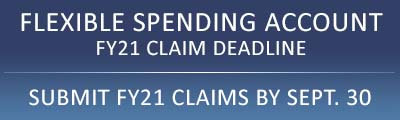 Submit FY21 Claims by Sept. 30