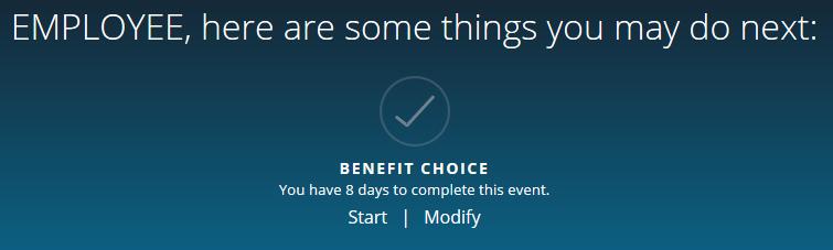 Benefit Choice: Start/Modify