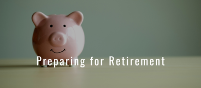 Preparing for Retirement with pink piggy bank smiling