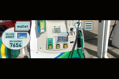 virtual reality gas pump