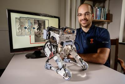 Joao Ramos and his robot, Little Hermes