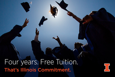 Four years. Free Tuition.That's Illinois Commitment.