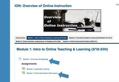 screenshot from online class
