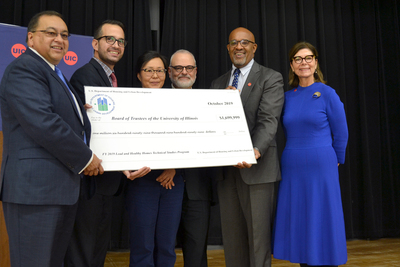 HUD presents check to UIC