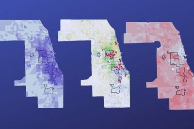 Three Chicago area heat maps