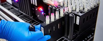 test tube samples in lab